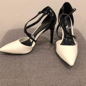 Christian Siriano White and Black Heels